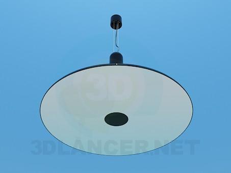 3d модель Плоская и круглая лампа – превью