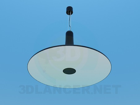3d model Flat and round lamp - preview