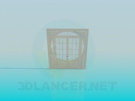 3d модель Широкая двойная дверь – превью