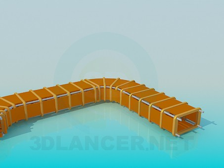 3d model Tunnel for children - preview