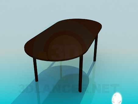 3d model Table without corners - preview