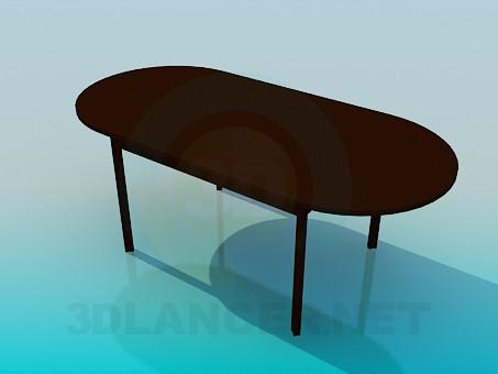 3d модель Стіл без кутів – превью