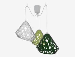 Lampe suspendue tricolore (11 textures dans la gamme)