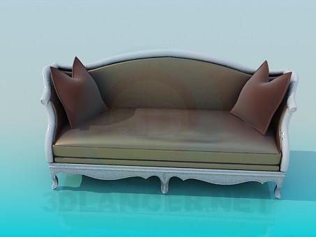 descarga gratuita de 3D modelado modelo Sofá antiguo