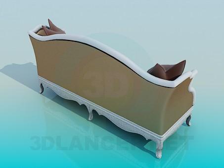3d model Antique Sofa - preview
