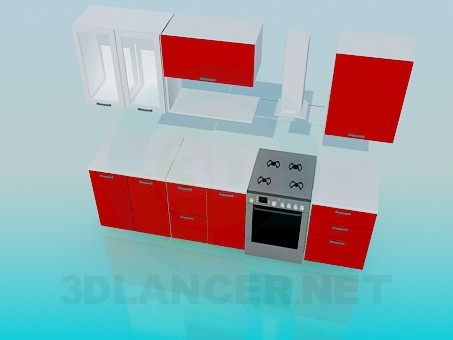 3d model Small kitchen set - preview