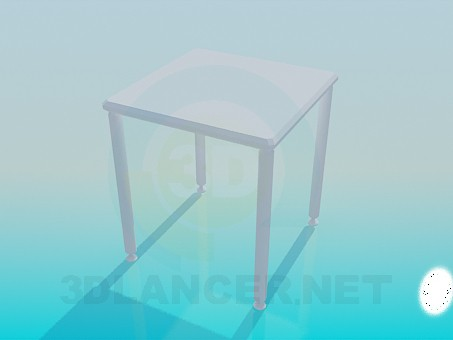 3d model Square small table - preview