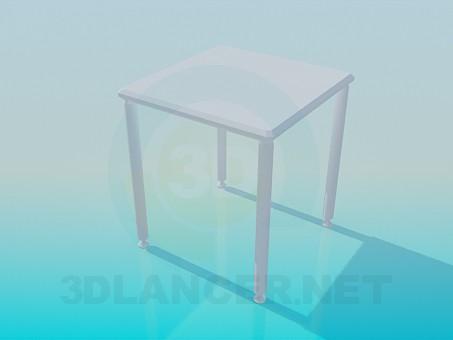 modelo 3D Mesa cuadrada pequeña - escuchar