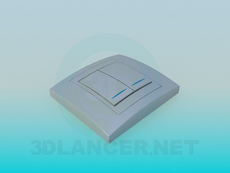 modelo 3D Interruptor doble de luz - escuchar
