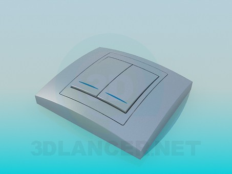 3d model Double light switch - preview