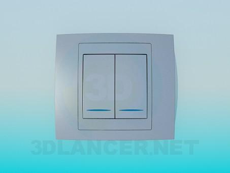 3d модель Двойной выключатель – превью