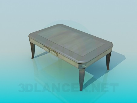 3d modeling Gray Coffee Table model free download