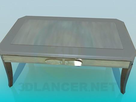 3d модель Серый журнальный столик – превью