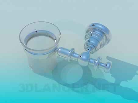 modelo 3D Copa del cepillo - escuchar