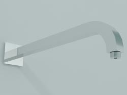 Braccio doccia quadro piegato 22x22 mm, L 350 mm (BD003 A)