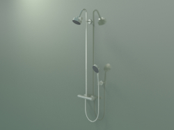 Shower pipe with thermostat and 3jet overhead shower (34640820)