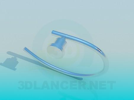 modelo 3D Sostenedor de la toalla - escuchar