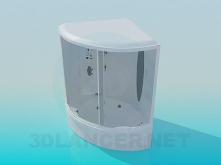 3d моделирование Душевая кабина с ванной модель скачать бесплатно