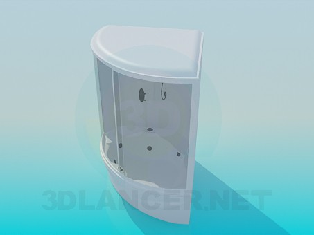 3d model Shower with bathtub - preview