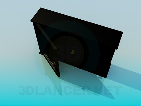 3d model Narrow tumba - preview