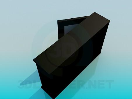 3d модель Вузька тумба – превью