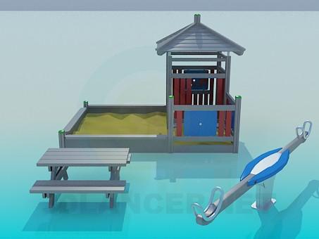 modelo 3D Sandbox y swing - escuchar