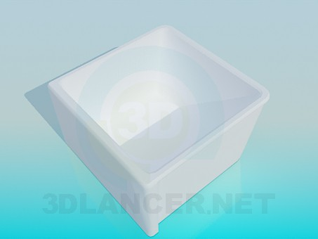 3d model Deep shower tray - preview