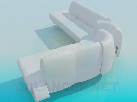 3d модель Большой угловой диван – превью