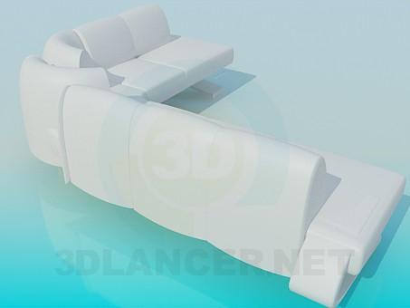 modelo 3D Gran sofá - escuchar