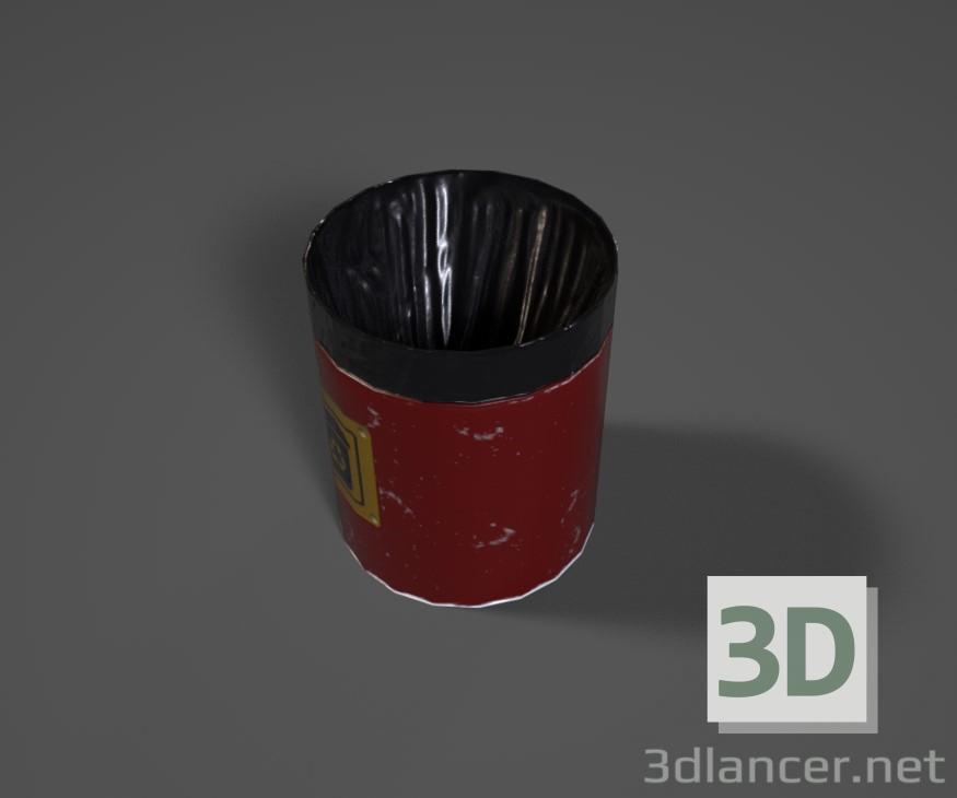 3d Trash model buy - render
