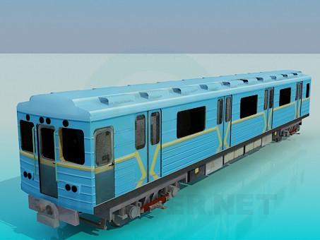 3d model Subway car - preview