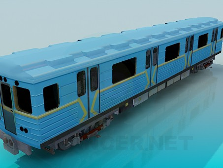 modelo 3D Vagón del metro - escuchar