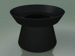 Giravolta Vase - C vase (Matt Black)