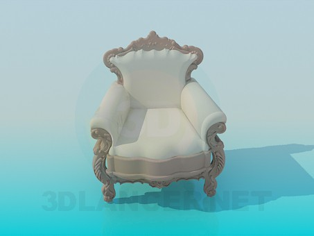 3d model Armchair Baroque - preview
