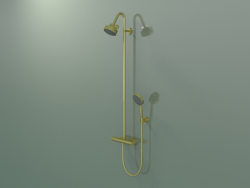 Shower pipe with thermostat and 3jet overhead shower (34640950)