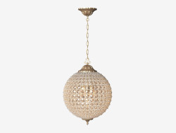 Ceiling lighting fixture Alcazar Crystal Medium Chandelier (CH054-3-VBN)