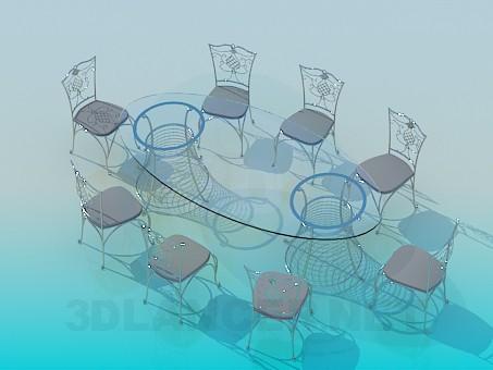 3d model Mesa de banquete - vista previa