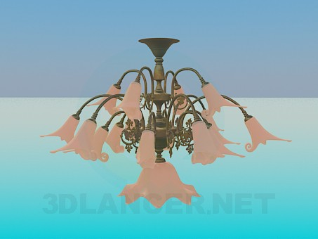 3d modeling Volumetric light chandelier model free download