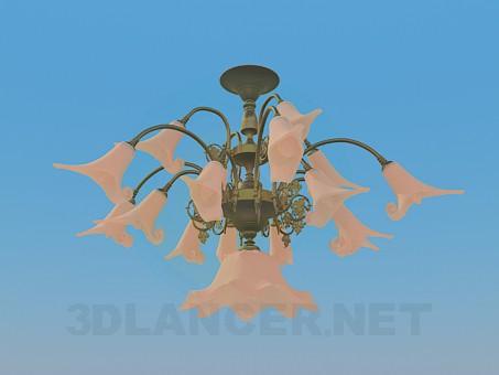 3d модель Обьемная люстра – превью