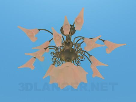 3d model Volumetric light chandelier - preview