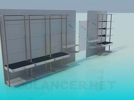 modelo 3D Stand de comercio - escuchar