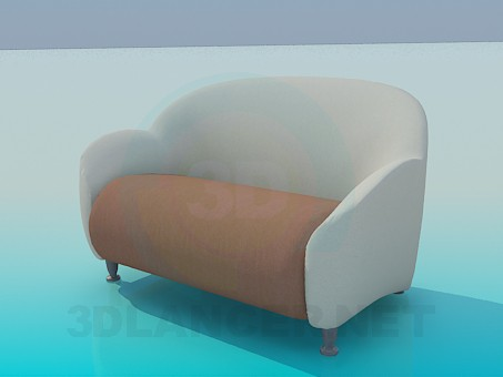 3d model Double Chair - preview