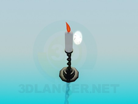 3d modeling Candlestick with candle model free download
