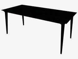 Table à manger (frêne teinté noir 90x180)