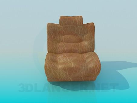 3d модель Кресло с подголовником – превью