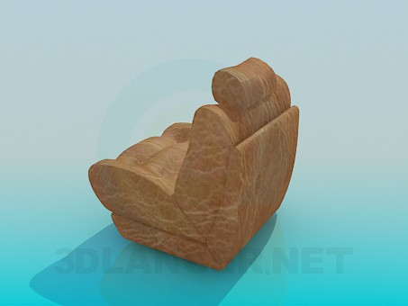 3d model Armchair with headrest - preview