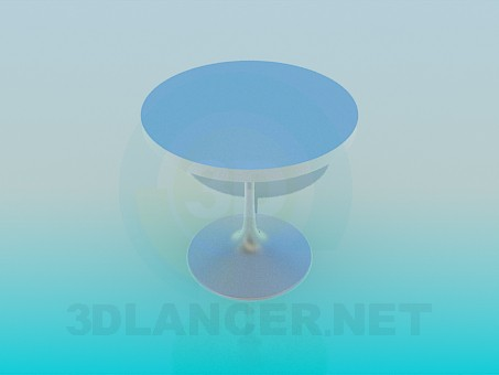 3d modeling Metal round table model free download
