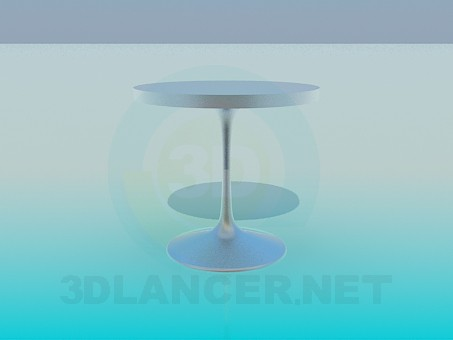 3d model Metal round table - preview