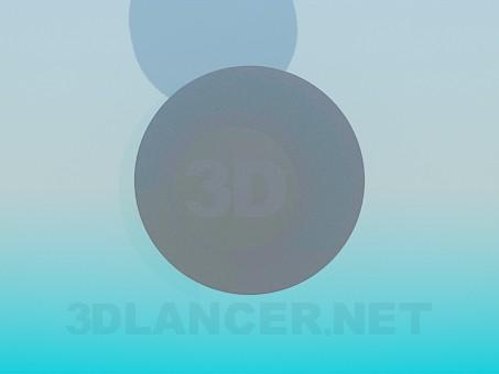 3d модель Металевий круглий столик – превью