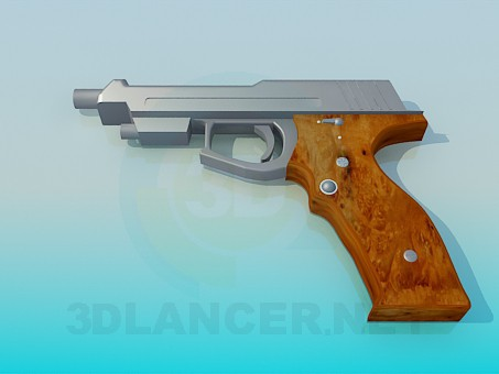 3d модель Пистолет – превью